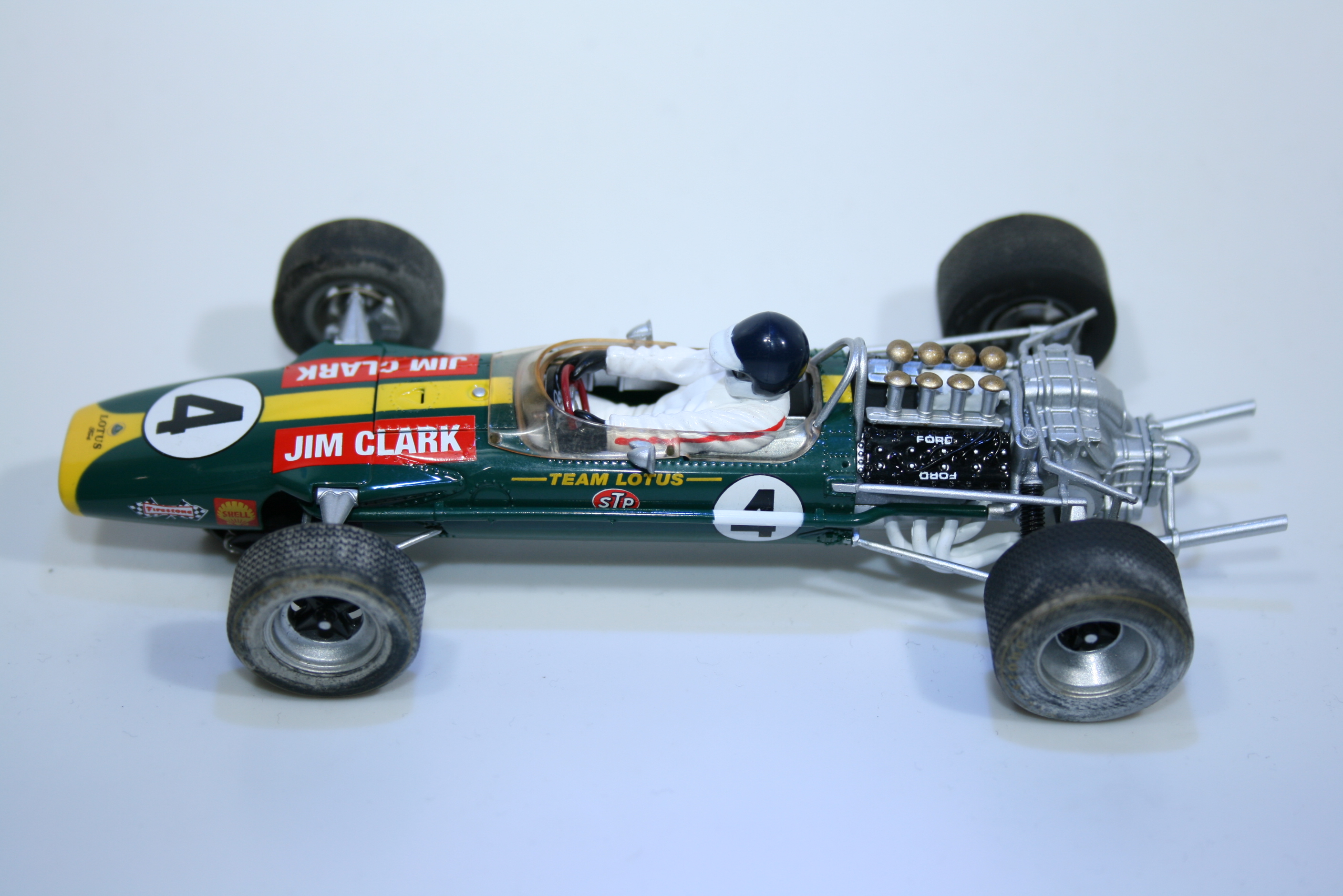 653 Lotus 49 1968 J Clark Scalextric C3206 2011 Boxed