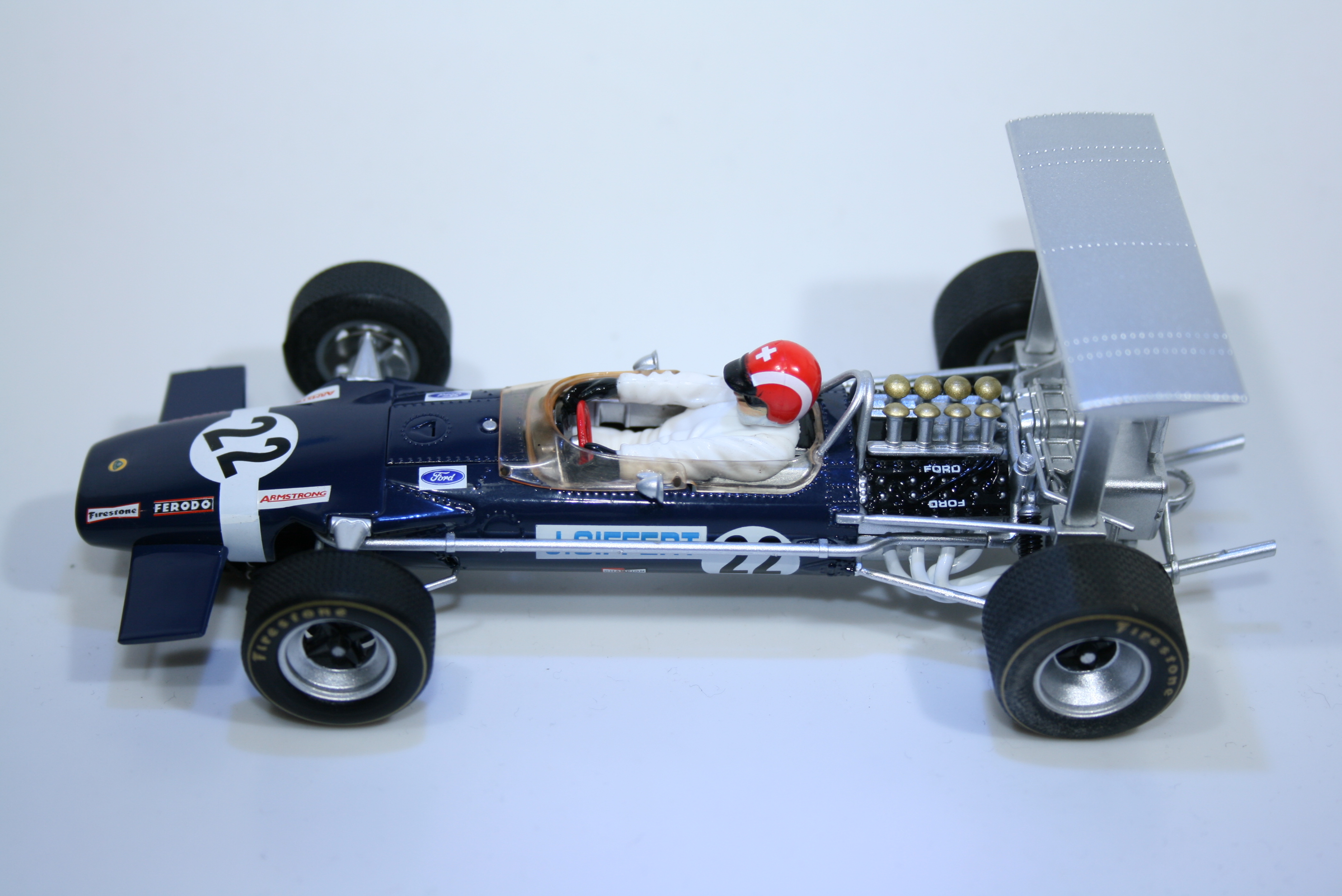 744 Lotus 49B 1968 J Siffert Scalextric C3413 2013 Boxed