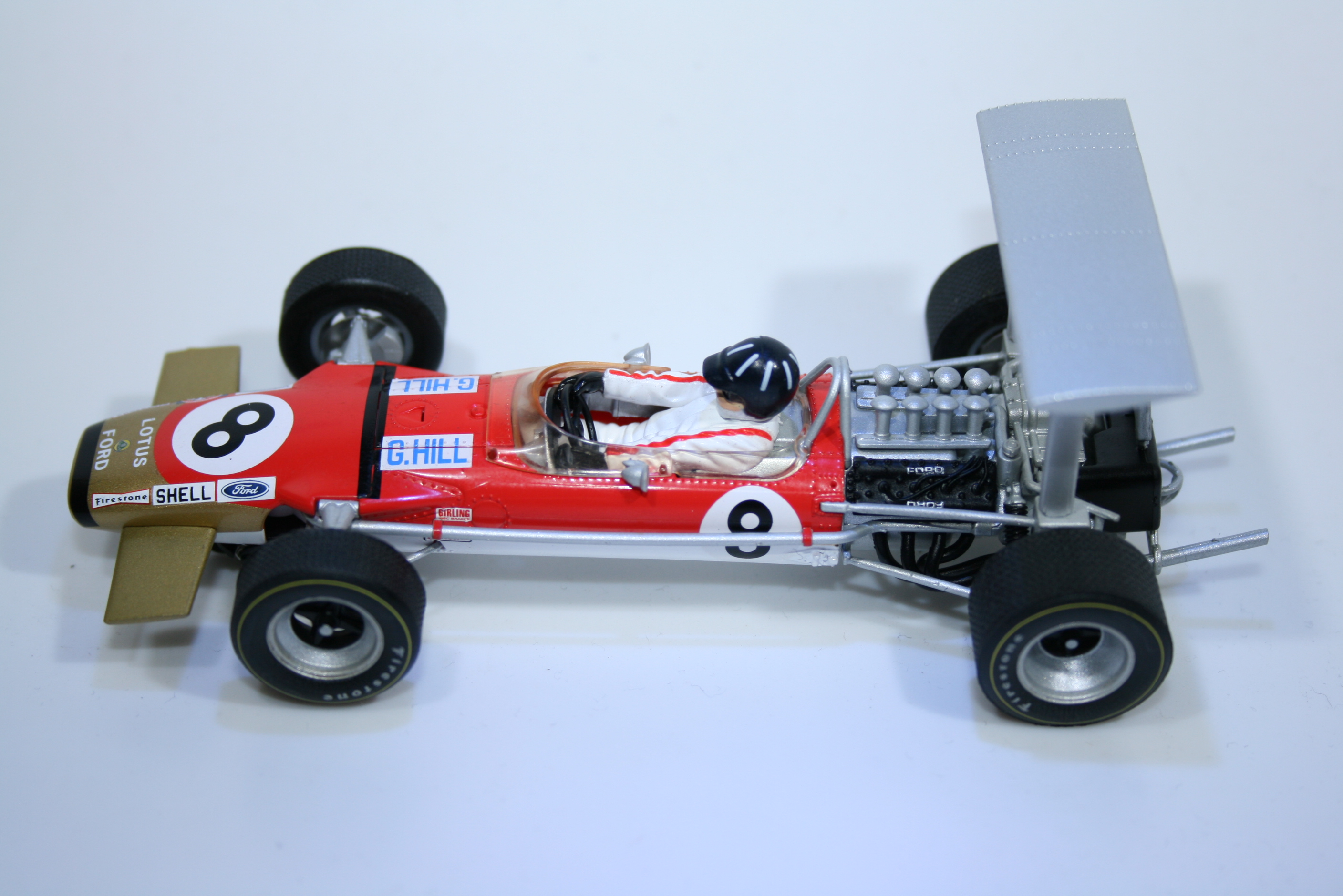 820 Lotus 49B 1968 G Hill Scalextric C3543A 2014 Boxed