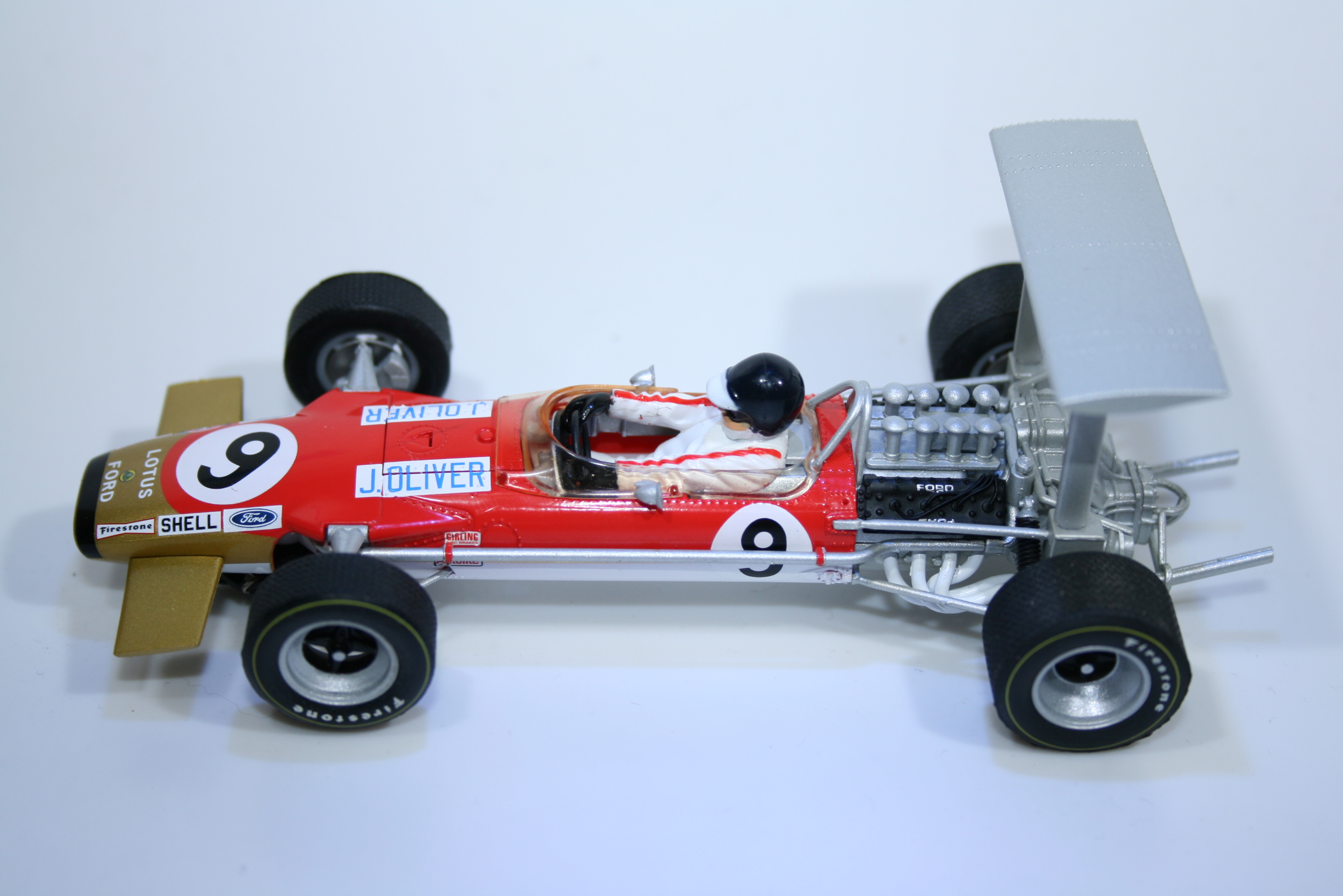 842 Lotus 49 1968 J Oliver Scalextric C3544A 2014 Boxed