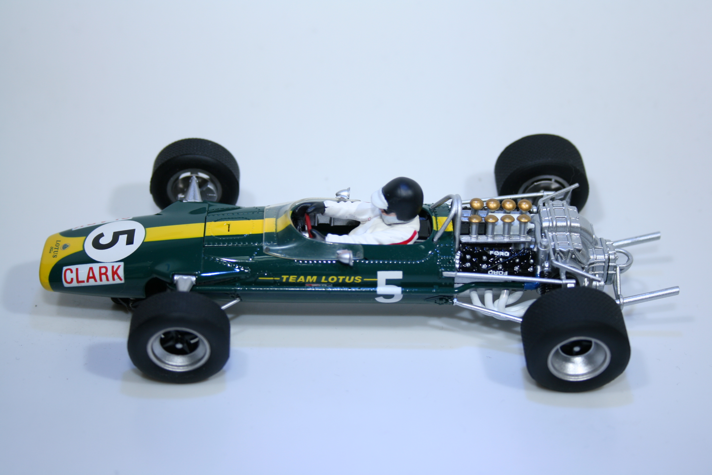 975 Lotus 49 1967 J Clark Scalextric C2923A 2008 Boxed
