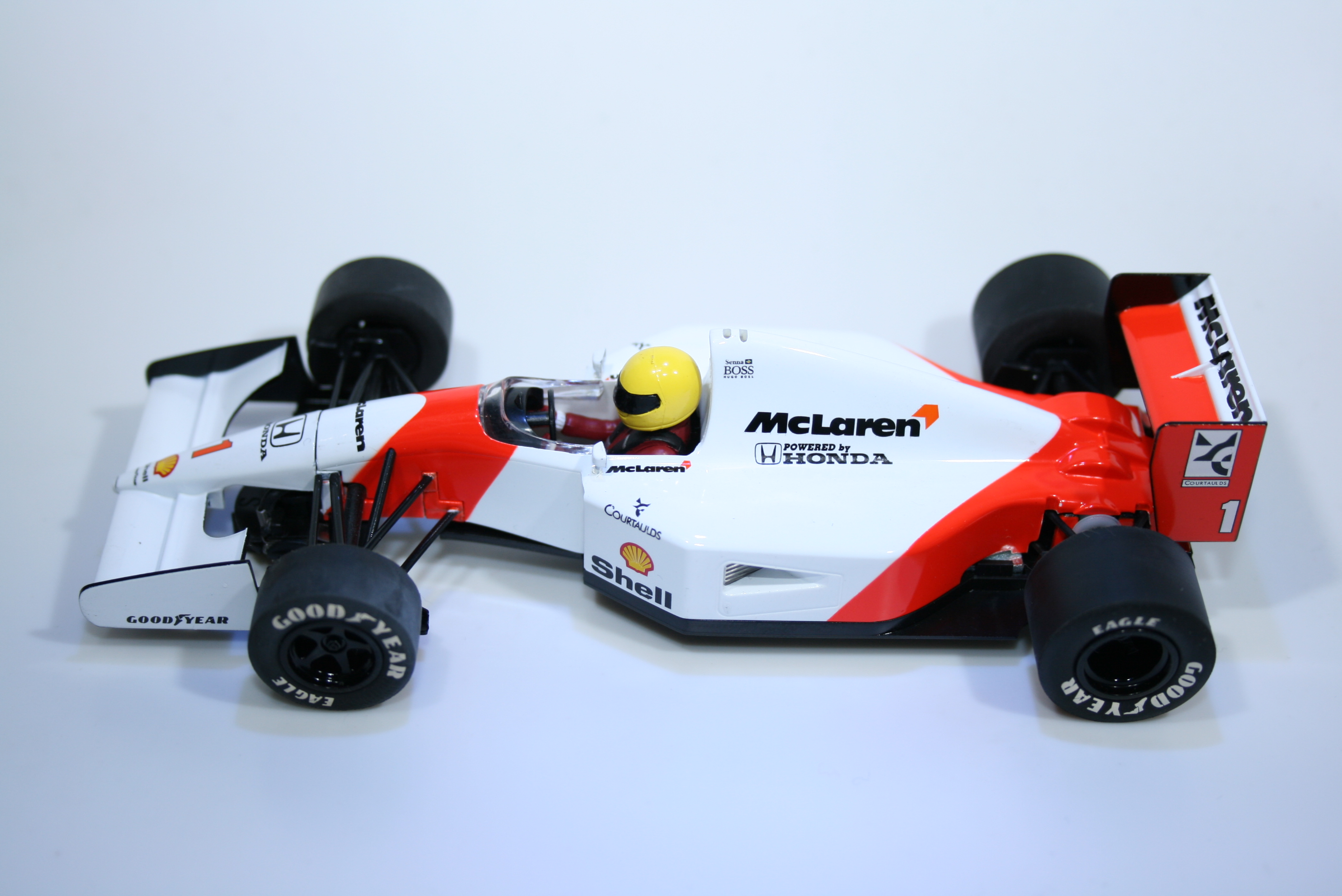513 Mclaren MP4/7 1992 A Senna Scalextric C2971A 2009 Boxed