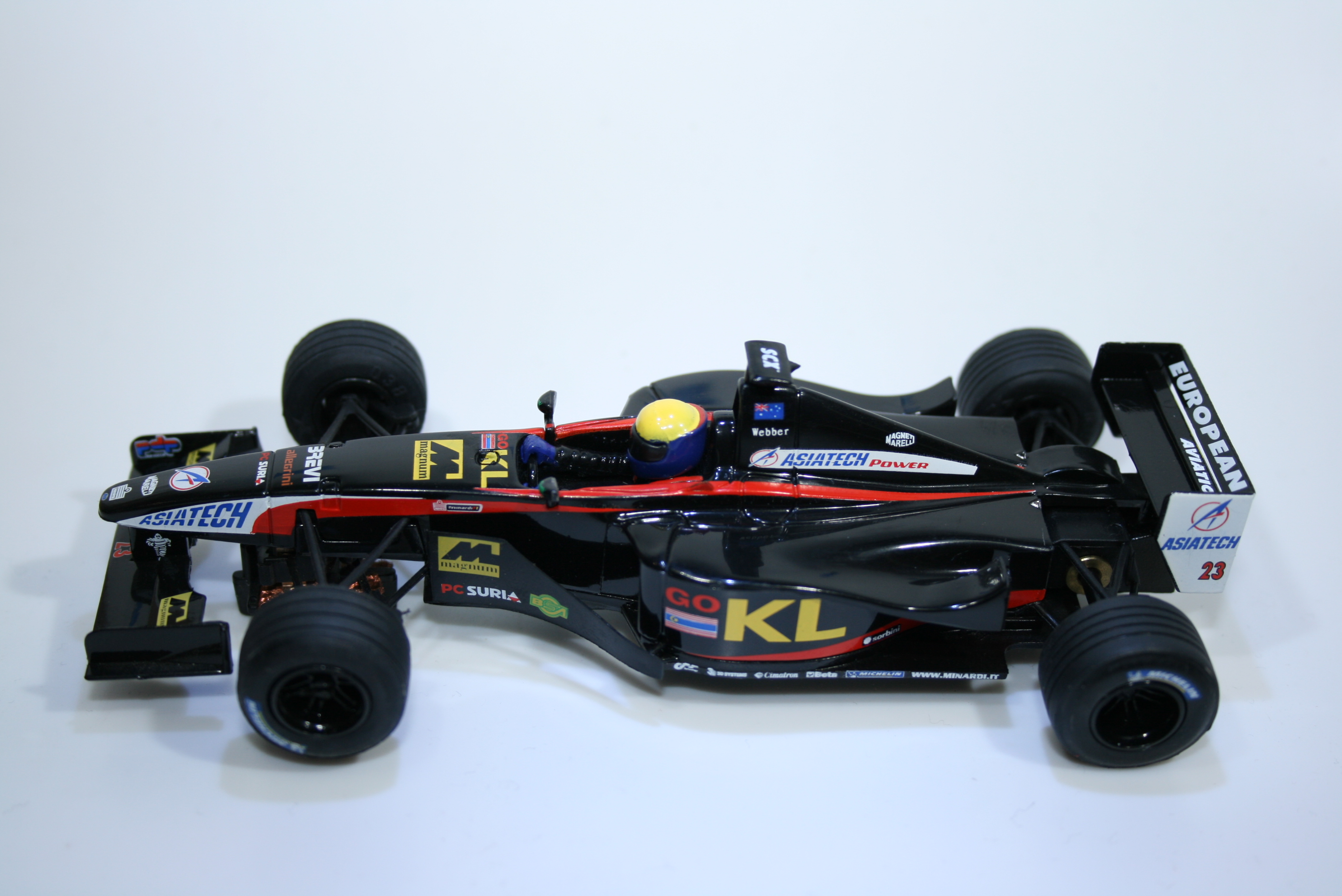 96 Minardi PS02 2002 M Webber SCX 6107 2002 Boxed