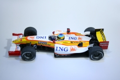 555 Renault R29 2009 F Alonso Scalextric C2987 2009 Boxed