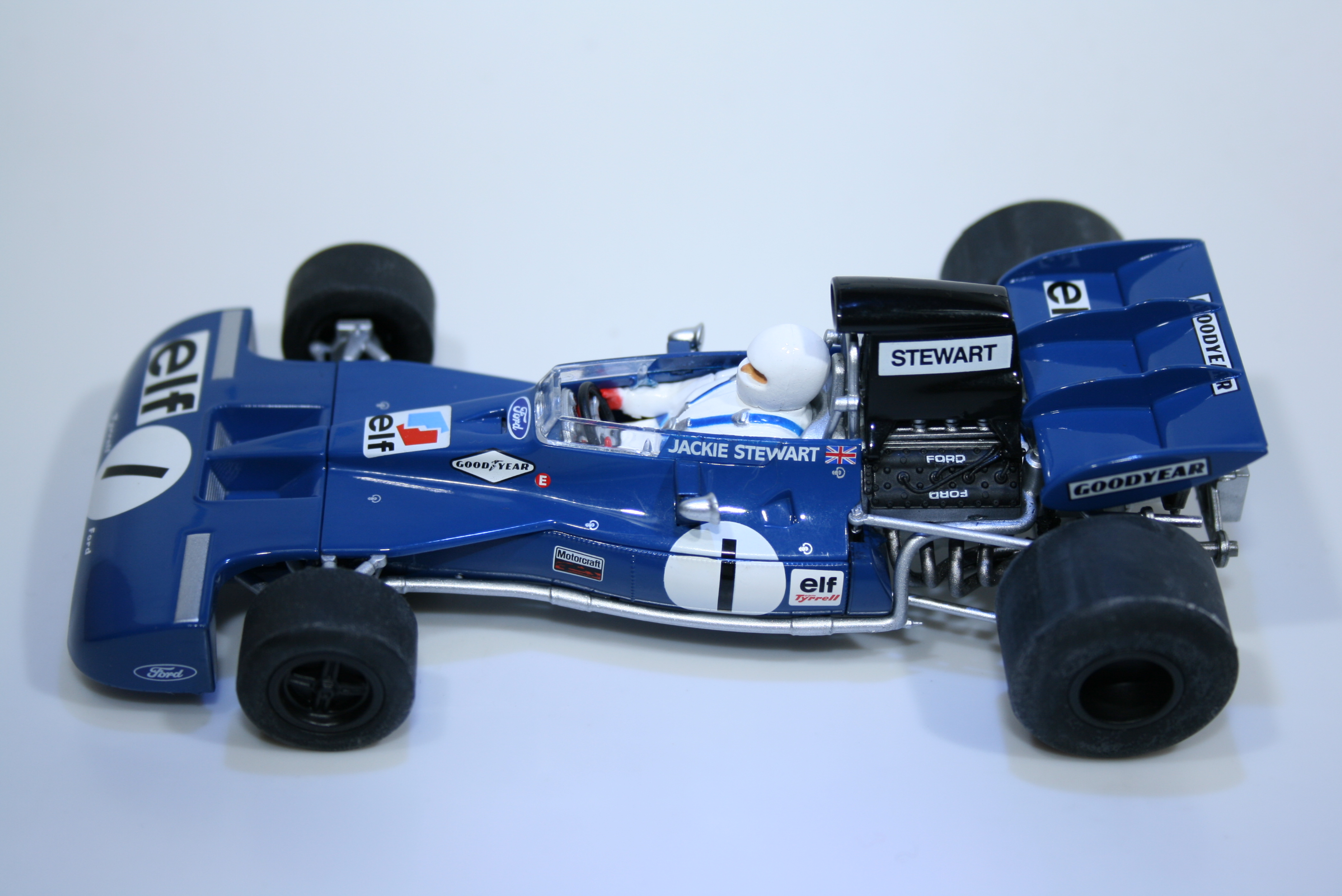 821 Tyrrell 003 1972 J Stewart Scalextric C3479A 2014 Boxed